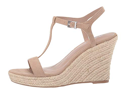 (CHARLES BY CHARLES DAVID Women's Lili Espadrille Wedge Sandal Nude 9 M)