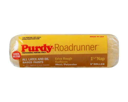 Purdy 144654097 Roadrunner 50/50 Lambswool/Polyester Blend Roller Cover, 9 inch x 1-1/4 inch nap