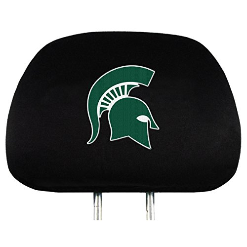 NCAA Michigan State Spartans Head Rest Covers, 2-Pack