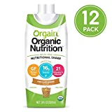 Orgain Organic Nutrition Shake, Iced Cafe Mocha, Gluten Free, Kosher, Non-GMO, 11 Ounce, 12 Count, Packaging May Vary For Sale