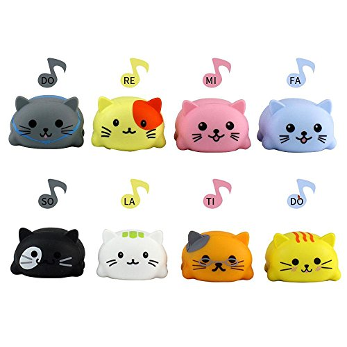 Umiwe Music Scale Cat Dog,Scale Cat Children's Musical Toys Set Stress Relief Squeeze Anti Stress Toy Creative Gifts