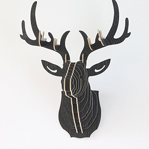 Vintage Style DIY 3D Wooden Puzzle Deer Head Wall Hanging De