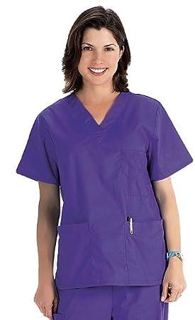 Maglia per divisa sanitaria con collo a V NCD Medical//Prestige Medical Bianco XS white