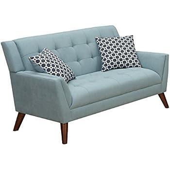 Furniture World Mid Century Love Seat, Turquoise
