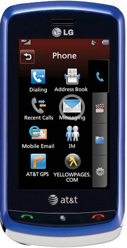Cell Phone Navigator Lg (LG Xenon GR500 Phone, Blue (AT&T))