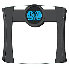 EatSmart Products Precision Calpal Digital Bathroom Scale with 440 Pound Capacity, BMI and Calorie Intake Analysis