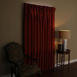 "Best Home Fashion Curtain Rod Collection - Wraparound Blackout Curtain Rod - Black - 5/8"" Diameter - 66""L - 120""L"