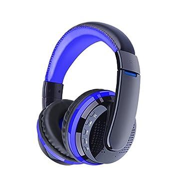 GUORZOM Auriculares Bluetooth Estéreo Plegable Auriculares Inalámbricos 3.5MM Manos Libres con Micrófono Radio FM Ranura