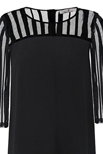 1048 Donna black Schwarz Onyx Vestito Bellybutton Schwangerschaftsmode TnqxwFqp