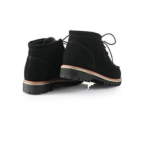 pour de loisirs femmes d'hiver Bottes Gommage neige chaudes noir caoutchouc de Bottes ESqfd1