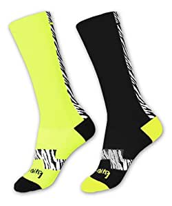 Intensity LAX Socks (2-Pack), Zebra