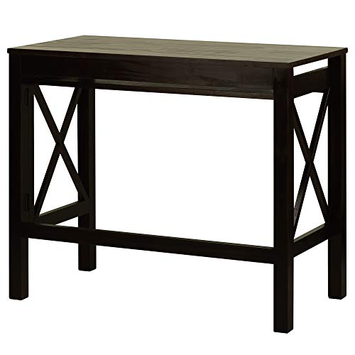 (Casual Home Montego Folding Desk with Pull-Out Tray-Espresso)