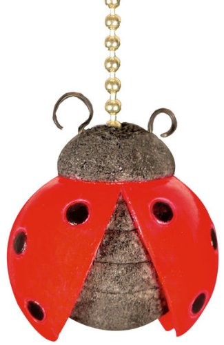 Clementine Designs Ladybug Beetle Nursery Porch Decor Ceiling Fan Light Pull