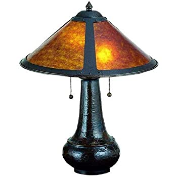 21 Inch H Van Erp Amber Mica Table Lamp Table Lamps