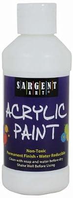 Sargent Art 22-2396 8-Ounce Acrylic Paint, White