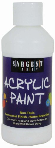 Sargent Art 22-2396 8-Ounce Acrylic Paint, White