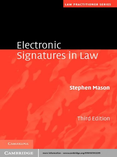 Download Electronic Signatures in Law (Law Practitioner Series) Pdf