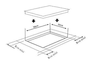 K&H Doble Vitroceramica Sensor touch control HC-3402