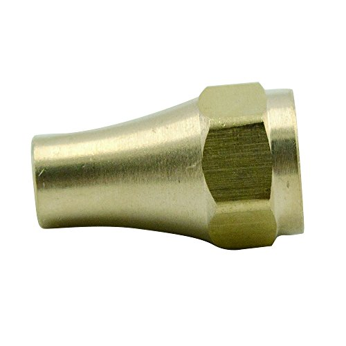 (Brass SAE 45 Degree Flare Tube Fitting, Nut, 5/16'' Tube OD (Pack of 1))