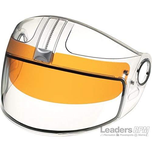 Ski-Doo New OEM EXO/GS-2/TS-1 Dual Lens Shield w/Amber Visor 4472300095