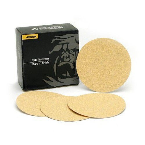 Mirka 23-352-040 Gold 8 in. Heavy Duty PSA Disc 40 Grit, Qty. 50