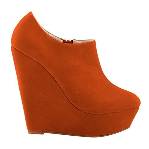 Corti Stivaletti Alta Arancia boots Ragazza Autunno Scarponcini Zeppa Moda Low da Adulto Moda Stivali WanYang Donna Stivaletti Boots wHnSqP7pa