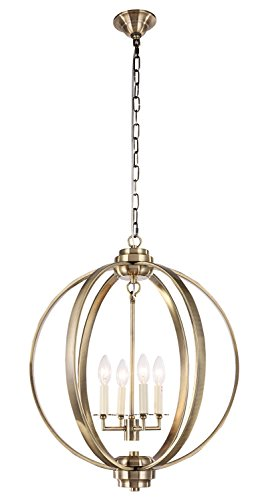 Dst Morden Ball Shape Antique Brass Pendant Chandelier Ceiling Light for Dining, Living room, bedroom Size: Width: 53 cm/20.86