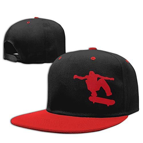 Toddler Girls Baseball Cap Skateboard Skater Cotton Snapback Sun Hat Red