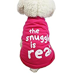 Farjing Clearance Puppy Costume,Cute Animal Striped Dog Clothing T-Shirt (S,Hot pink