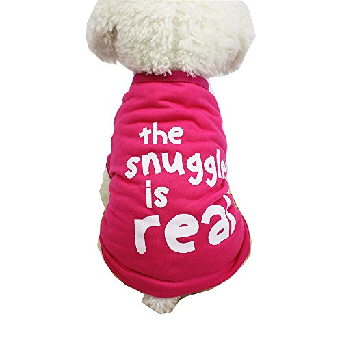 Farjing Clearance Puppy Costume,Cute Animal Striped Dog Clothing T-Shirt (M,Hot pink