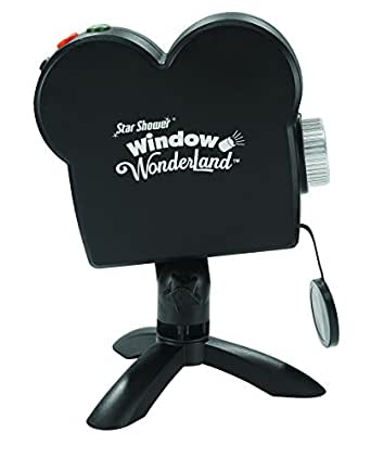 Star Shower Window Wonderland Holiday Projector by BulbHead, Create Halloween Projector Movies & Christmas Window Displays (1 Pack)
