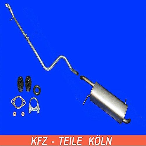 Endschalldä mpfer Abgasrohr Auspuffanlage + Set (KSD8LVA3H) Auspuffanlagen Köln