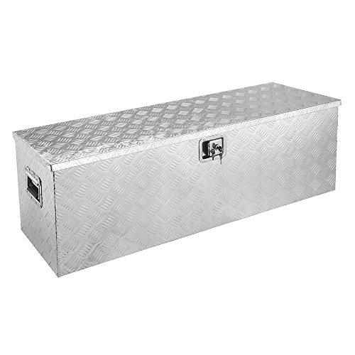 49 inch Aluminum Tool Box for Truck Trailer Bed Underbody ATV Pickup Portable Large Organizer Storing Lockable w/ 2 Lock (Tradesman Underbody Truck Box)