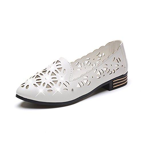 Zapatos de tacón plano Asakuchi en primavera/literario atravesado zapatos puntiagudos/Salvajes casual zapatos mujer A