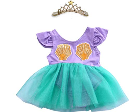 Infant Girls Lil' Mermaid Costume from Chunks of Charm (9 -