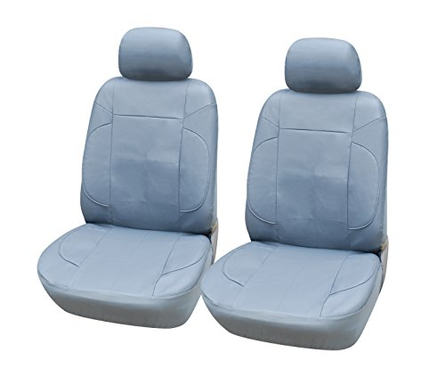 115302 Grey-leather Like 2 Front Car Seat Covers Compatible to Mercedes-Benz CLS Couple GLA SUV GLC SUV E-Class Wagon B-Class C-Class Sedan (Electric) S-Class Sedan (Electric) 2017-2007 - S-class Sedan