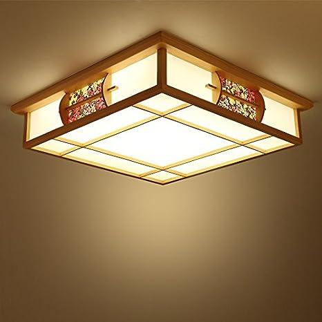 Luminaria de techo lámpara de mesa de estilo japonés tatami ...