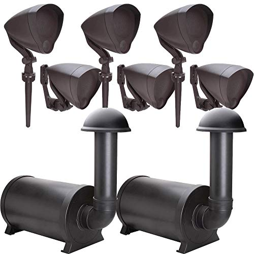 Niles Outdoor (6) Speaker System with (2) Subwoofers, Discreet and Hidden from Sight