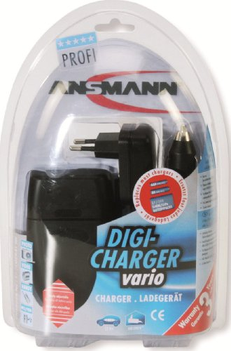 Lion Camcorder Accessory (Ansmann 5025113/us Digicharger Vario - Universal Battery Charger for Lithium and NiMH)
