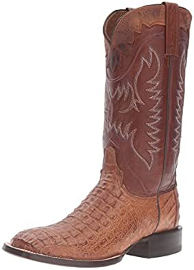 Lucchese Classics Men's Rhys HB Caiman Horseman Riding Boot, Tan, 9 2E US