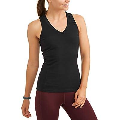 Athletic Works Women's Dri More Core Shelf-Bra Racerback Tank Top at Women's Clothing store