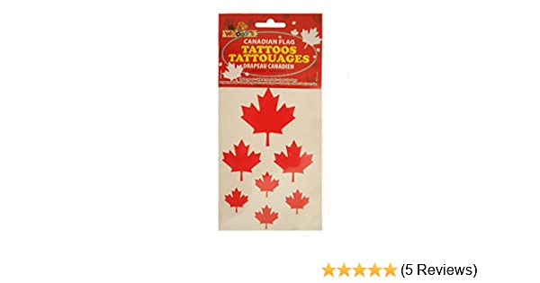Amazon Com 1 Pack Of 7 Canada Red Maple Leafs Tattoos Woody S New Toys Games