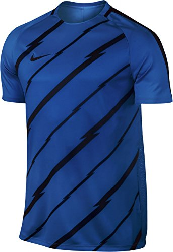 Nike M Nk Dry Sqd Ss Gx Camiseta de Manga Corta, Hombre Azul (Paramount Blue / Black / Black)