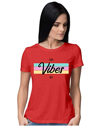 Heybroh Women's Regular Fit T-Shirt Good Vibes Only (All Colours) 100% Cotton T-Shirt