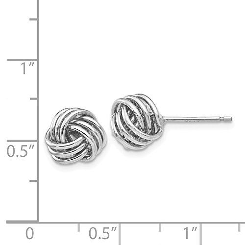 14kt White Gold Ridged Love Knot Post Earrings by Perfume4All (Image #2)