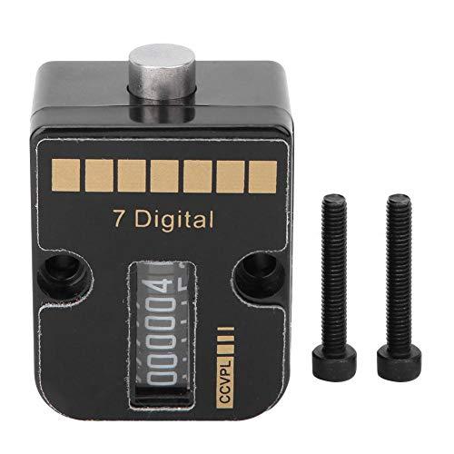 7-stelliger präziser mechanischer Zähler, Kunststoffformzähler (0-9999999) mit 1,1-Zoll-Montagebohrung