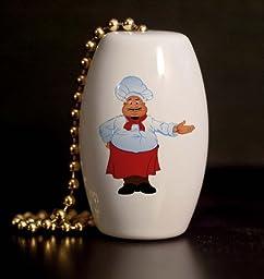Fat Chef Porcelain Fan / Light Pull