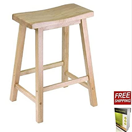 Excellent Amazon Com Tsr Wooden Stool 24 Inch Stool Chair Crafted Of Gamerscity Chair Design For Home Gamerscityorg