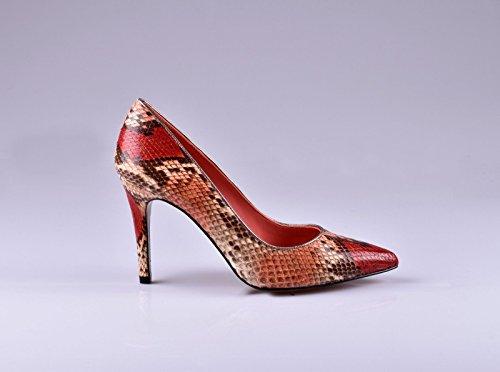 de Intérieure Escarpins Taille Cuir MILAN en Collection et 38 Rouge 40 en Espagne Fabriquée Python ANNA Semelle Gel Semelle en Exclusive Femme w0xgt0H
