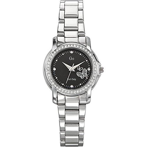 GO Girl Only 694117 - Reloj analógico de cuarzo para mujer con correa de acero inoxidable